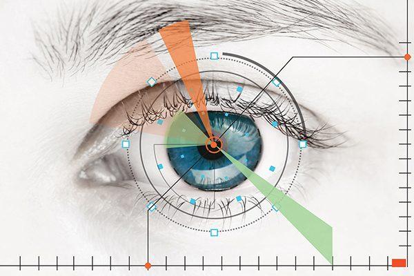 Abstract image of human eye