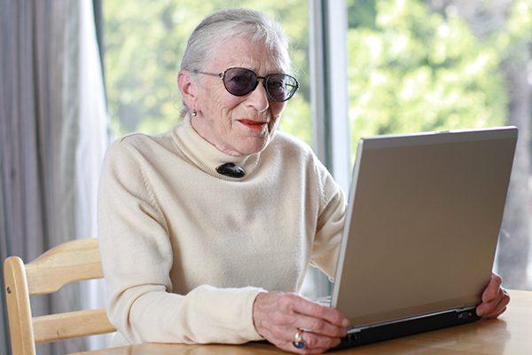 Senior woman on her laptop