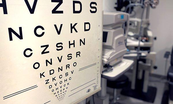 Eyechart in an exam room.