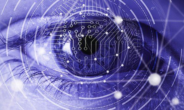 Abstract image of the hi tech eye