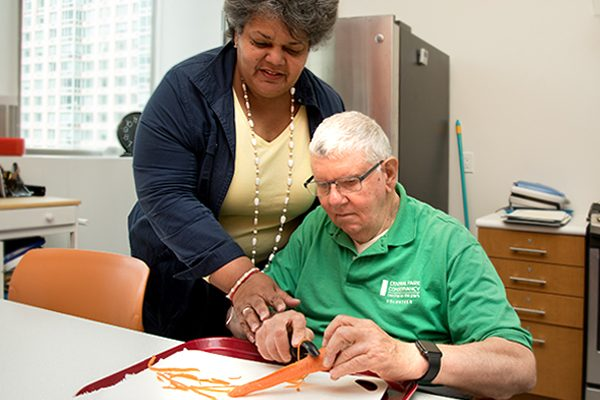 Independent living rehabilitation with Lighthouse Guild instructor