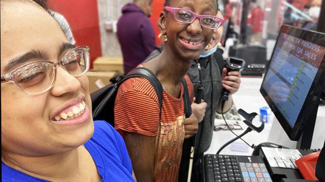 Youth Skills program participants enjoying store tour at Target.